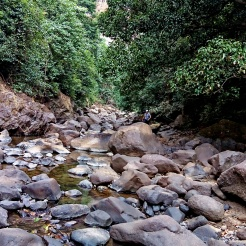 Way from where the flow of Devkund waterfall goes into the Kundalika river